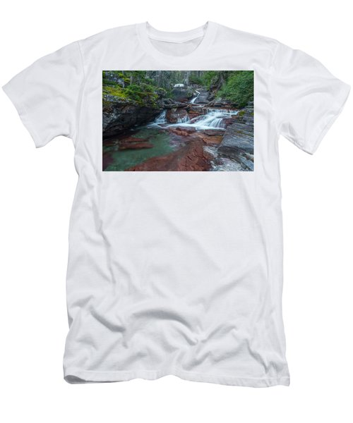 Men's T-Shirt (Athletic Fit) featuring the photograph Cascades by Gary Lengyel