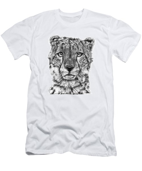 Men's T-Shirt (Slim Fit) featuring the drawing Cassandra The Cheetah by Abbey Noelle