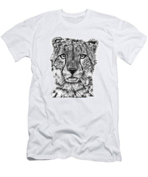 Cassandra The Cheetah Men's T-Shirt (Slim Fit) by Abbey Noelle