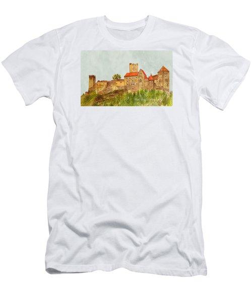 Castle Hardegg Men's T-Shirt (Slim Fit) by Angeles M Pomata