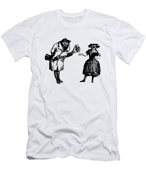Cat And Mouse Grandville Transparent Background Men's T-Shirt (Athletic Fit)