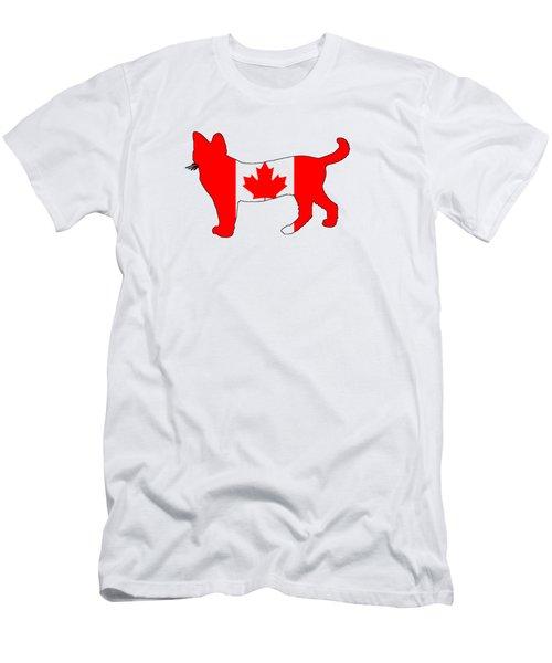 Cat Canada Men's T-Shirt (Slim Fit) by Mordax Furittus