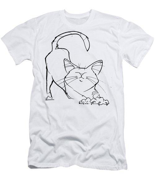 Cat Gesture Sketch Men's T-Shirt (Athletic Fit)
