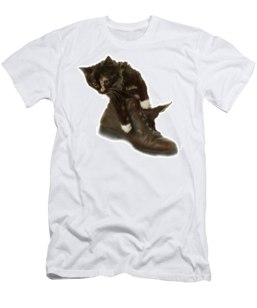 Cat In Boot Men's T-Shirt (Athletic Fit)