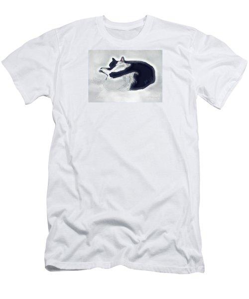 Cat Nap Chasing The Light Men's T-Shirt (Athletic Fit)