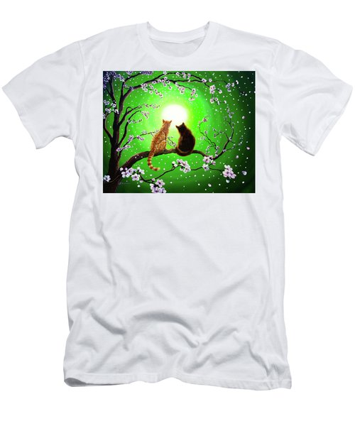 Cats On A Spring Night Men's T-Shirt (Athletic Fit)