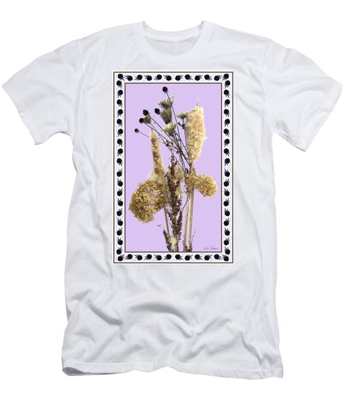 Cattails And November Flowers Men's T-Shirt (Slim Fit) by Lise Winne
