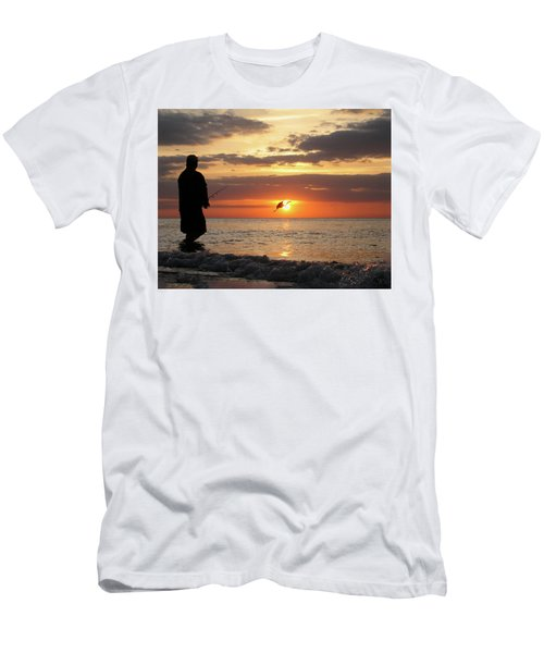 Caught At Sunset Men's T-Shirt (Athletic Fit)