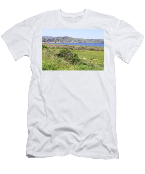 Men's T-Shirt (Slim Fit) featuring the photograph Cayucos Coastline - California by Art Block Collections