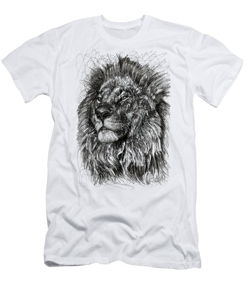 Cecil The Lion Men's T-Shirt (Slim Fit) by Michael  Volpicelli