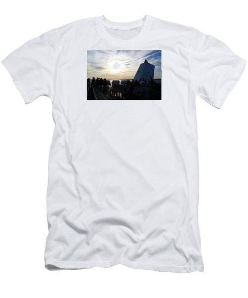 Celebrating The Sunset Men's T-Shirt (Slim Fit) by Margie Avellino