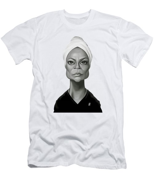 Celebrity Sunday - Eartha Kitt Men's T-Shirt (Slim Fit) by Rob Snow