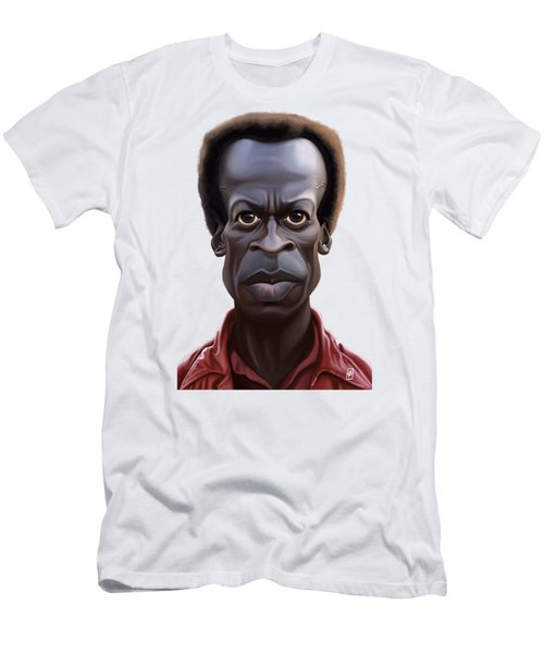 Celebrity Sunday - Miles Davies Men's T-Shirt (Slim Fit) by Rob Snow