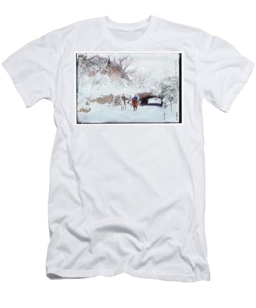 Central Park Snow Men's T-Shirt (Athletic Fit)