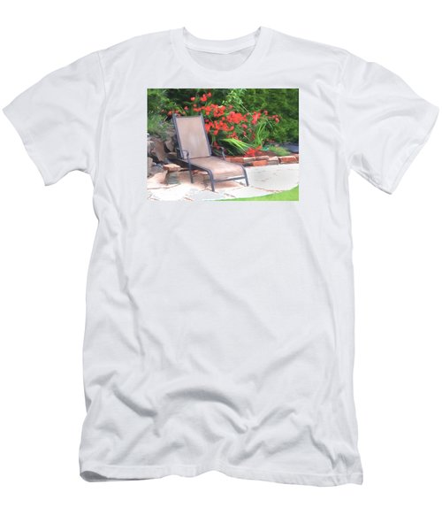 Men's T-Shirt (Slim Fit) featuring the photograph Chair Waiting by Susan Crossman Buscho
