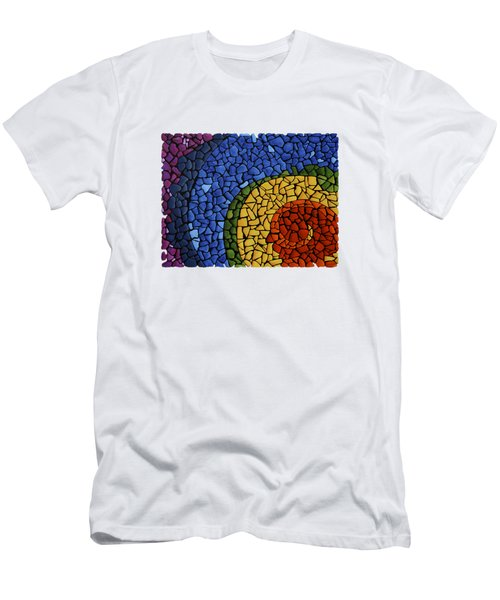Men's T-Shirt (Slim Fit) featuring the painting Chakra Swirl by Deborha Kerr