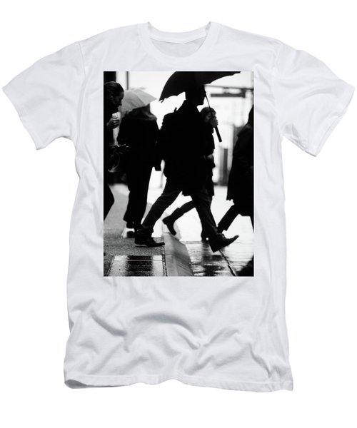 Men's T-Shirt (Slim Fit) featuring the photograph Challenge Of Peace  by Empty Wall