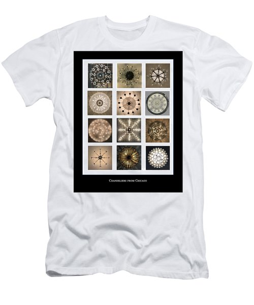 Chandeliers From Chicago Poster Men's T-Shirt (Athletic Fit)