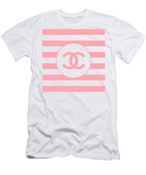 Chanel - Stripe Pattern - Pink - Fashion And Lifestyle Men's T-Shirt (Athletic Fit)