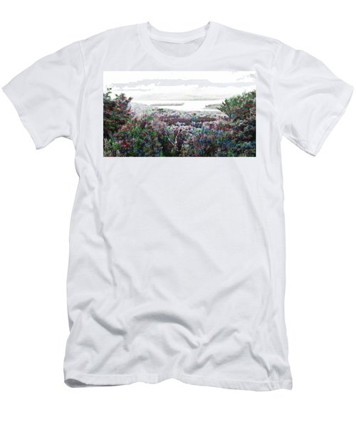 Men's T-Shirt (Slim Fit) featuring the mixed media Change Of Seasons by Mike Breau