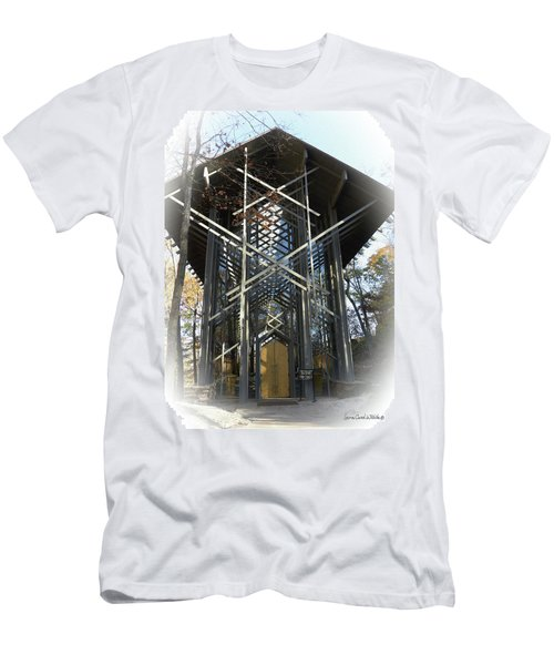 Men's T-Shirt (Slim Fit) featuring the photograph Chapel In The Woods by Lena Wilhite