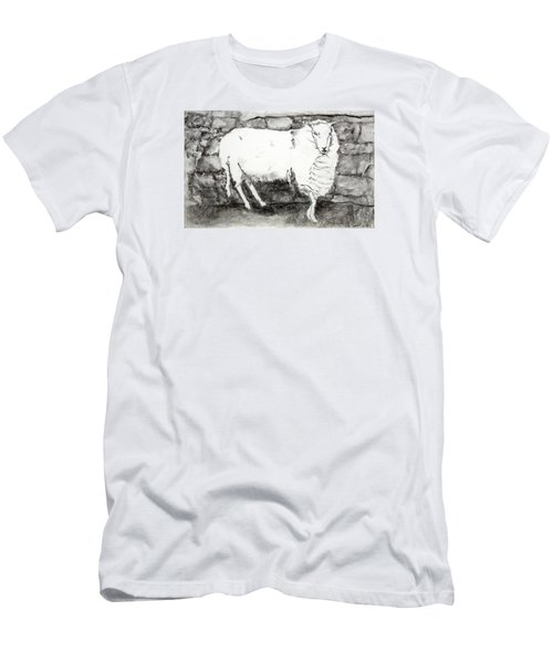 Charcoal Sheep Men's T-Shirt (Athletic Fit)