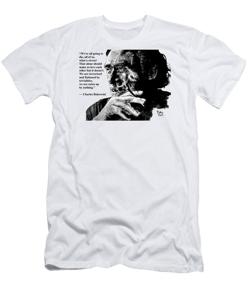 Charles Bukowski Men's T-Shirt (Athletic Fit)