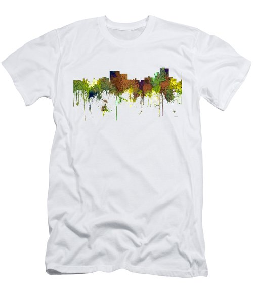 Chatanooga Tennessee Skyline Men's T-Shirt (Athletic Fit)