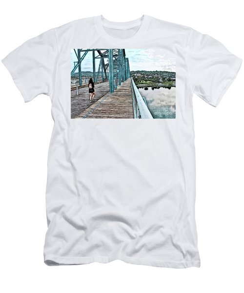 Chattanooga Footbridge Men's T-Shirt (Athletic Fit)