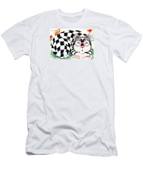 Checkers Men's T-Shirt (Slim Fit) by Dee Davis