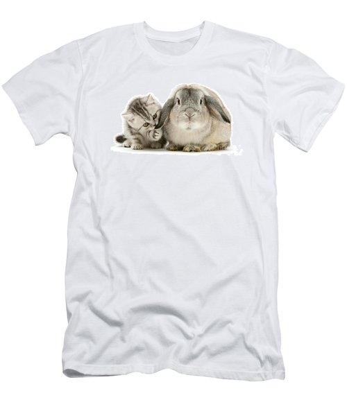 Checking For Grey Hares Men's T-Shirt (Athletic Fit)