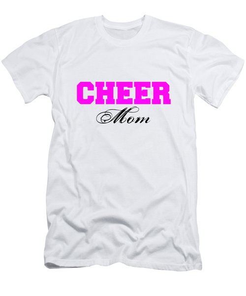 Cheer Mom Typography In Pink And Black Men's T-Shirt (Athletic Fit)