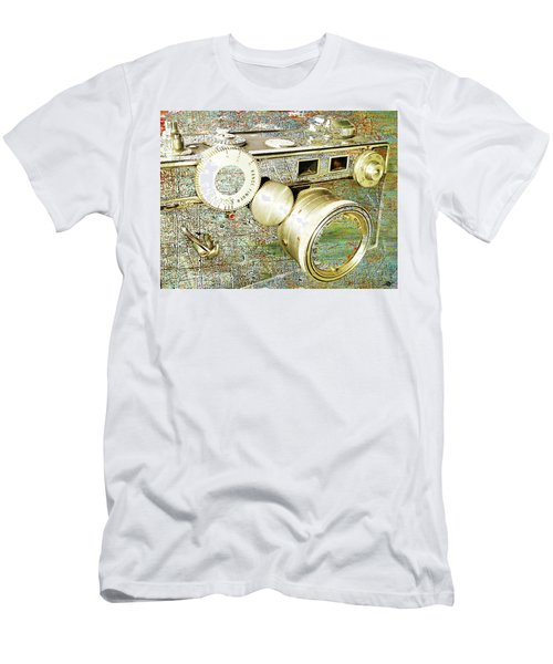 Men's T-Shirt (Slim Fit) featuring the mixed media Cheese by Tony Rubino