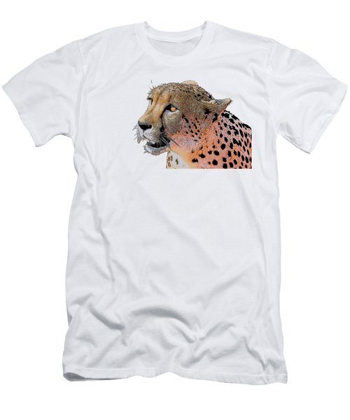Cheetah Golden Eye Men's T-Shirt (Athletic Fit)