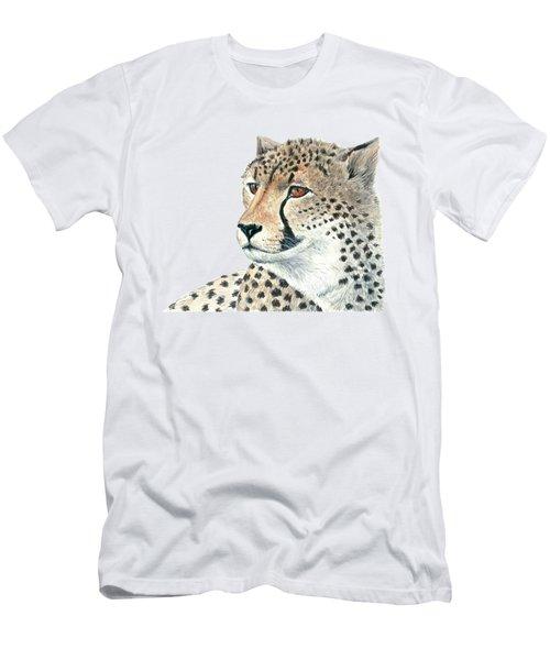 Cheetah Men's T-Shirt (Slim Fit) by Katerina Kirilova