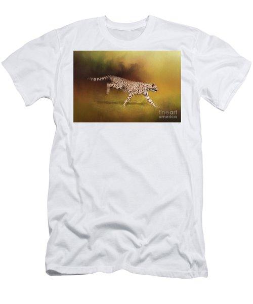 Cheetah Running Men's T-Shirt (Athletic Fit)