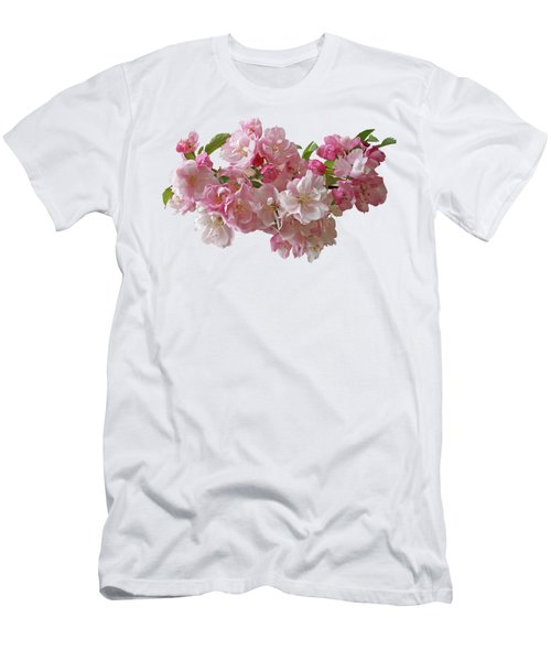 Cherry Blossom On Black Men's T-Shirt (Athletic Fit)