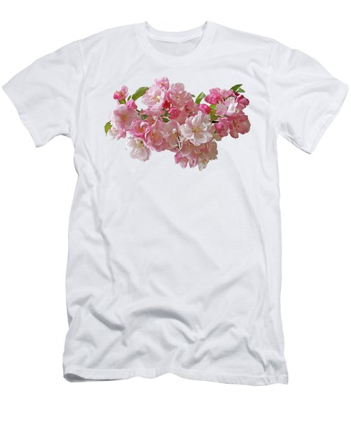 Cherry Blossom On White Men's T-Shirt (Athletic Fit)