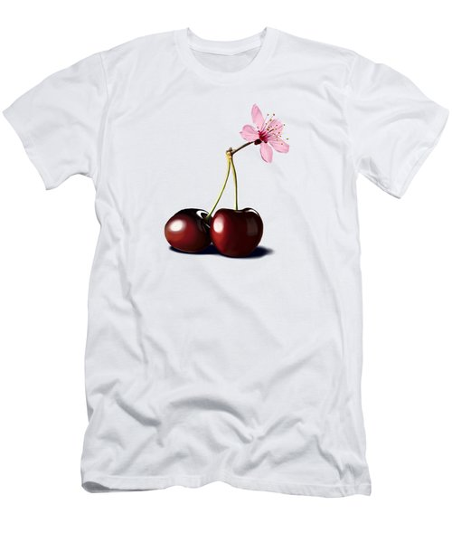 Cherry Blossom Men's T-Shirt (Slim Fit) by Rob Snow
