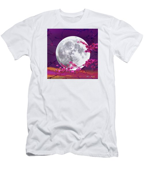 Cherry Moon  Men's T-Shirt (Slim Fit) by Robin Moline