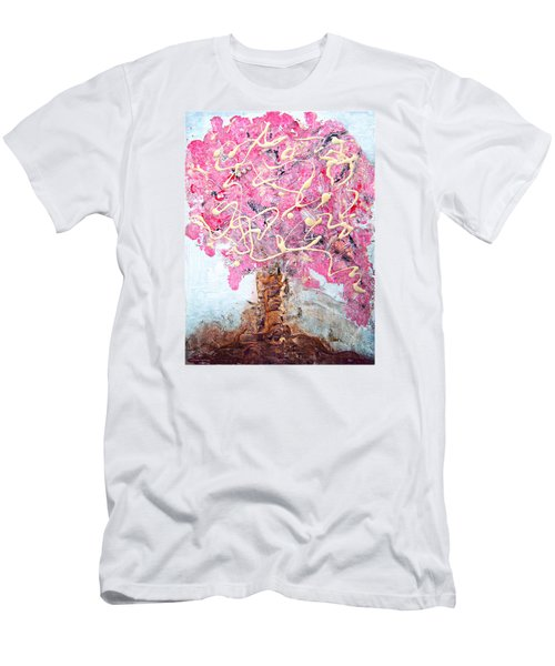 Cherry Tree By Colleen Ranney Men's T-Shirt (Athletic Fit)