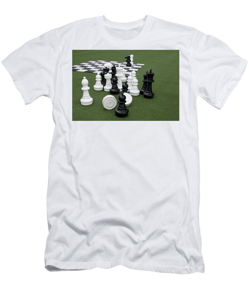 Chess Pieces Men's T-Shirt (Athletic Fit)
