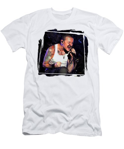 Chester Bennington From Linkin Park  Men's T-Shirt (Athletic Fit)
