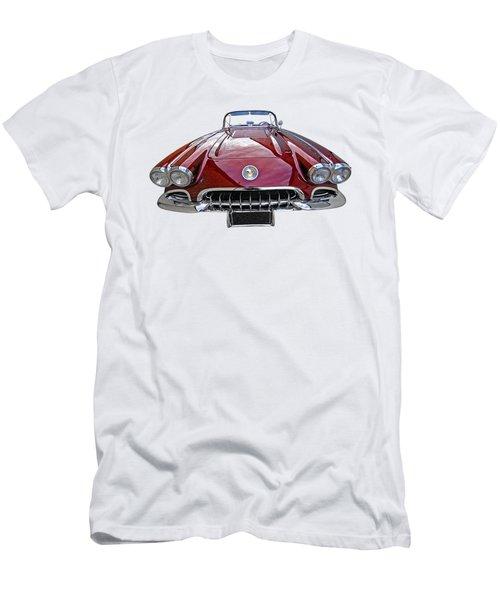 Chevrolet Corvette C1 1958 Head On Men's T-Shirt (Slim Fit) by Gill Billington
