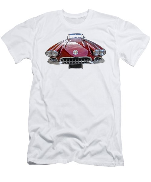Chevrolet Corvette C1 1958 Head On Men's T-Shirt (Athletic Fit)