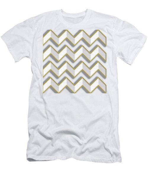 Chevrons - Gold Edges Men's T-Shirt (Athletic Fit)