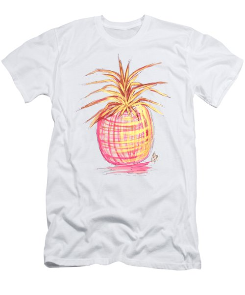 Chic Pink Metallic Gold Pineapple Fruit Wall Art Aroon Melane 2015 Collection By Madart Men's T-Shirt (Athletic Fit)