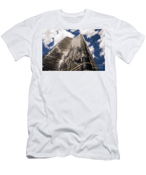 Men's T-Shirt (Slim Fit) featuring the photograph Chicago Building by Zawhaus Photography