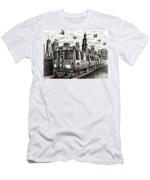 Chicago Cta Train Men's T-Shirt (Athletic Fit)