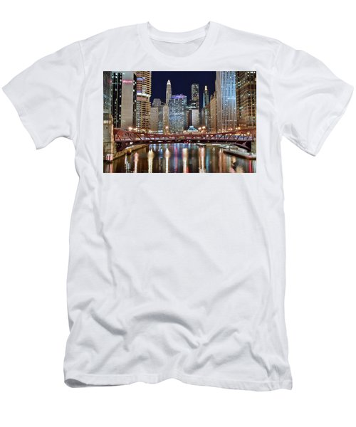 Chicago Full City View Men's T-Shirt (Athletic Fit)